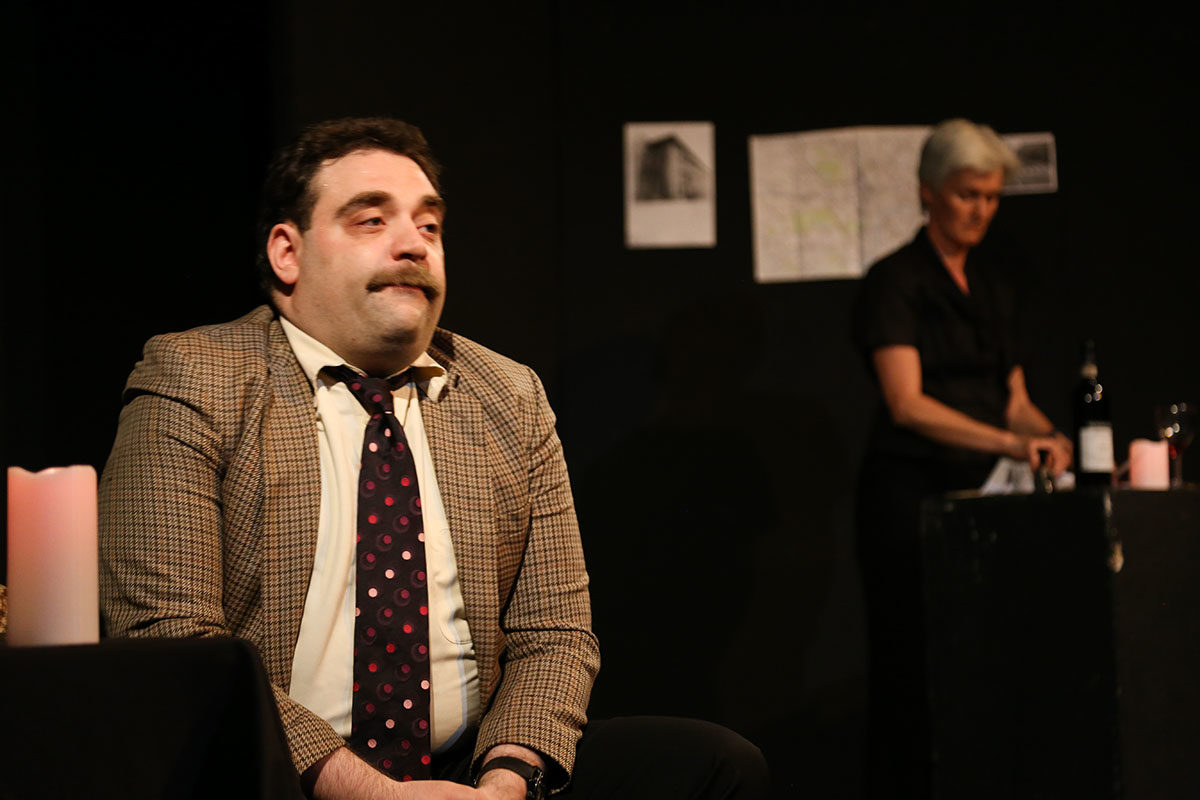 R. Louis Segal and Jacqueline Davies in A Deathly Audience