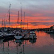 Sunset over Port Solent